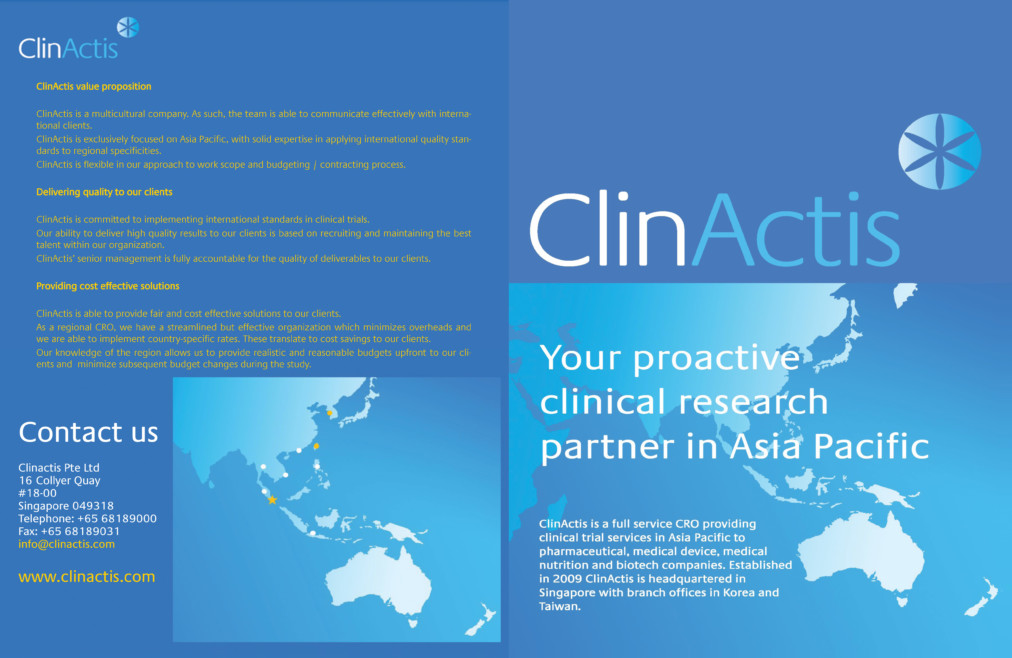 ClinActis (Brochure Design) – Ripplewerkz